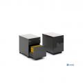 Meble :: Kontenery :: Mito kontener bezuchwytowy, mobilny z frontem i wieńcem górnym HPL - SLD13HT