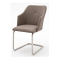 Meble :: Krzesła :: Madita B krzesło na płozie - ekoskóra
