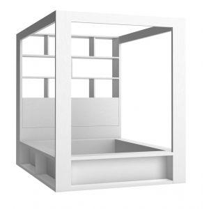 Łóżka do sypialni, tapicerowane, drewniane, małżeńskie, z pojemnikiem, pikowane