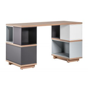 Biurka - białe, nowoczesne, narożne, komputerowe, z nadstawką