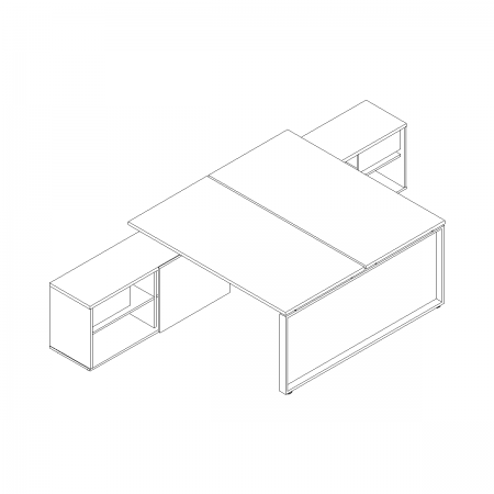 Meble :: Biurka :: Ogi Q biurka z szafką managerską 180 cm - BOQL41