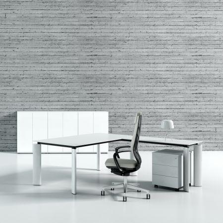 Meble :: Biurka :: Crystal biurko z blatem szklanym 200 cm - AE6S