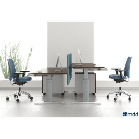 Meble :: Biurka :: Ergonomic Master biurko z manualną regulacją wysokości 120 cm - BR63R