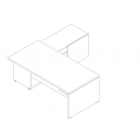 Meble :: Biurka :: Mito biurko z szafką managerską 202 cm - MIT2