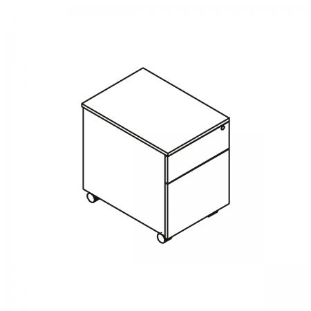 Meble :: Kontenery :: Mito kontener bezuchwytowy, mobilny - MIT120
