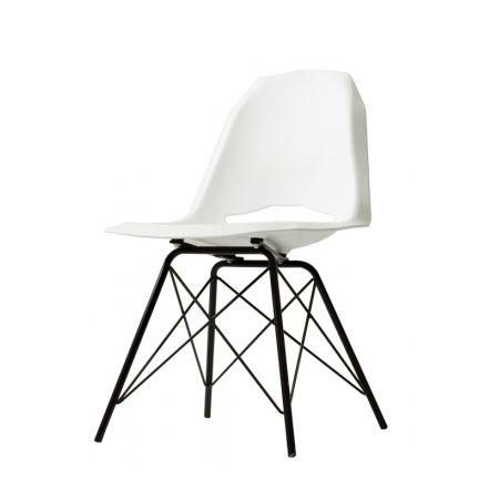 Meble :: Krzesła :: Match Metal Black krzesło - biały