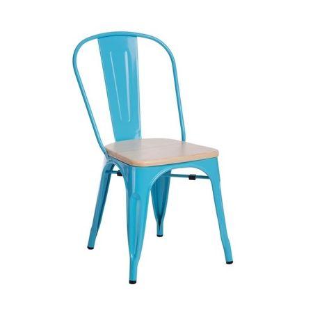 Meble :: Krzesła :: Krzesło Paris Wood - niebieskie sosna naturalna