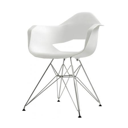 Meble :: Krzesła :: Match Arms Metal krzesło - biały