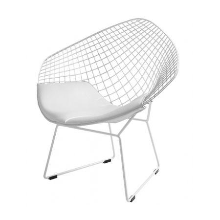 Meble :: Krzesła :: Diament Chair - biały, poduszka biała lub czarna