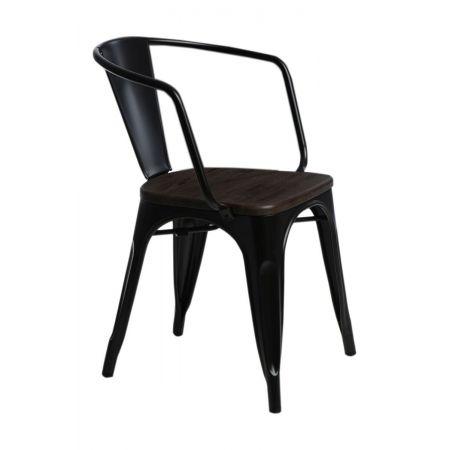 Meble :: Krzesła :: Krzesło Paris Arms Wood - czarne sosna szczotkowana