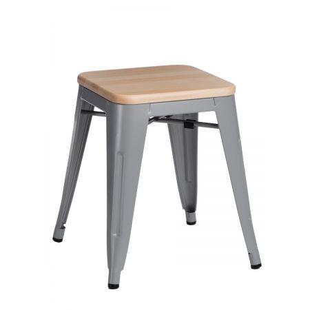 Meble :: Krzesła :: Stołek Paris Wood szary sosna naturalna