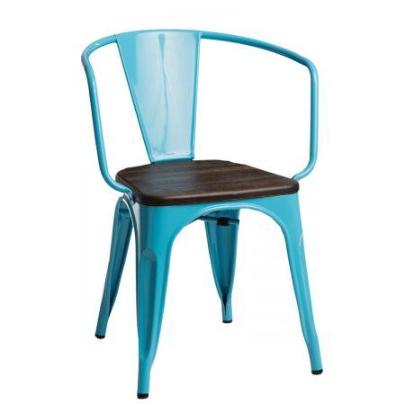 Meble :: Krzesła :: Krzesło Paris Arms Wood - niebieskie sosna szczotkowana