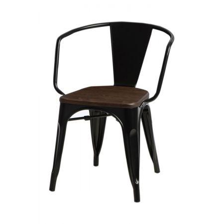 Meble :: Krzesła :: Krzesło Paris Arms Wood - czarne sosna orzech