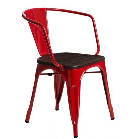 Meble :: Krzesła :: Krzesło Paris Arms Wood - czerwone sosna szczotkowana