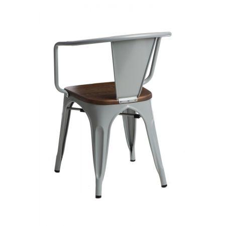 Meble :: Krzesła :: Krzesło Paris Arms Wood - szare sosna orzech