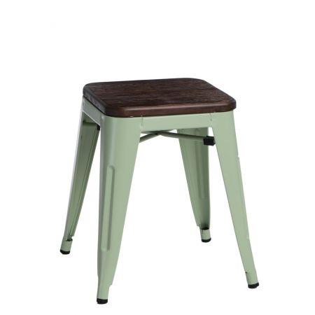 Meble :: Krzesła :: Stołek Paris Wood zielony sosna szczotkowana