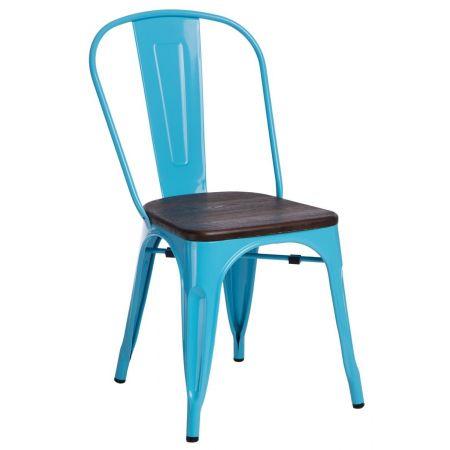 Meble :: Krzesła :: Krzesło Paris Wood - niebieskie sosna szczotkowana
