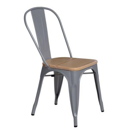 Meble :: Krzesła :: Krzesło Paris Wood - szare sosna naturalna