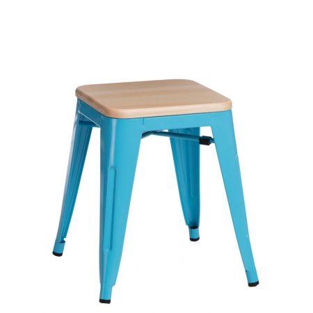 Meble :: Krzesła :: Stołek Paris Wood niebieski sosna naturalna