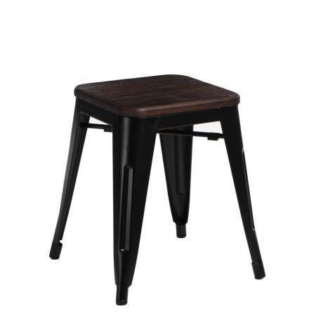 Meble :: Krzesła :: Stołek Paris Wood czarny sosna szczotkowana