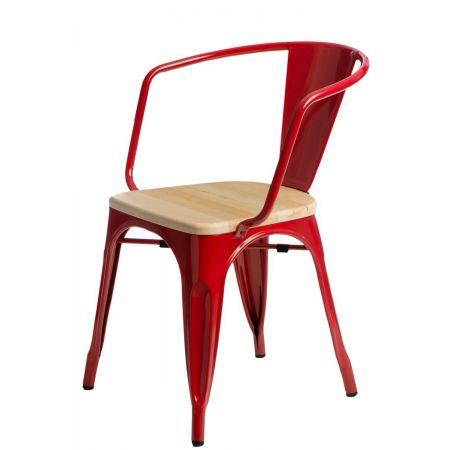 Meble :: Krzesła :: Krzesło Paris Arms Wood - czerwone sosna naturalna