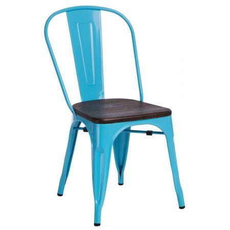 Meble :: Krzesła :: Krzesło Paris Wood - niebieskie sosna orzech