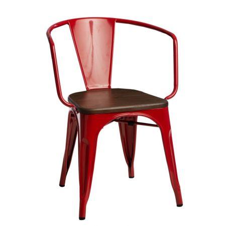 Meble :: Krzesła :: Krzesło Paris Arms Wood - czerwone sosna orzech