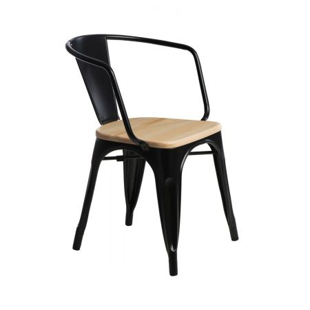 Meble :: Krzesła :: Krzesło Paris Arms Wood - czarne sosna naturalna