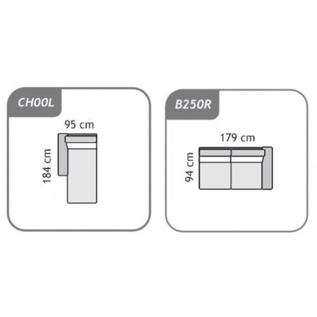 Meble :: Narożniki :: Agra narożnik B250R+CH00L - tkanina