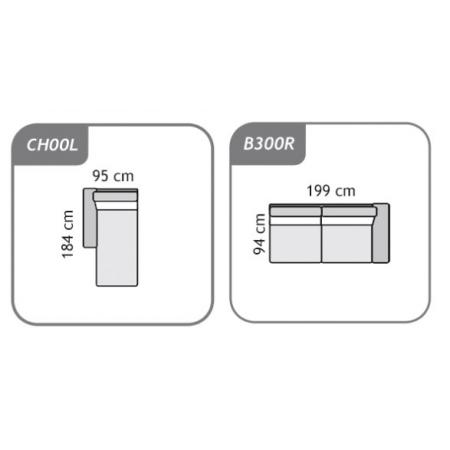Meble :: Narożniki :: Agra narożnik B300R+CH00L - tkanina
