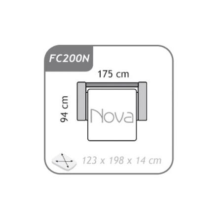 Meble :: Sofy :: Agra sofa 2 FC200N - funkcja spania Nova - tkanina