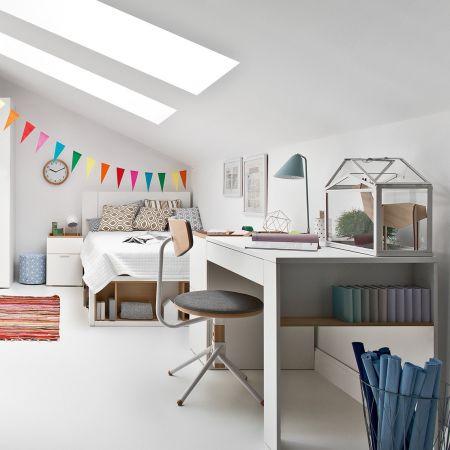Białe biurko młodzieżowe 142 cm - 4 You - VOX