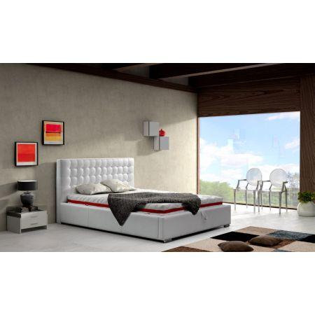 Łóżko z tapicerowanym, pikowanym zagłówkiem - Comforteo - Alice