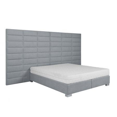 Meble :: Łóżka :: Łóżko kontynentalne 180, wezgłowie 600, H180, podstawa A, nogi 34 - tkanina