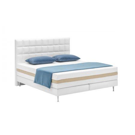 Meble :: Łóżka :: Łóżko kontynentalne 80, wezgłowie 102, H125, podstawa G, nogi 36 - tkanina