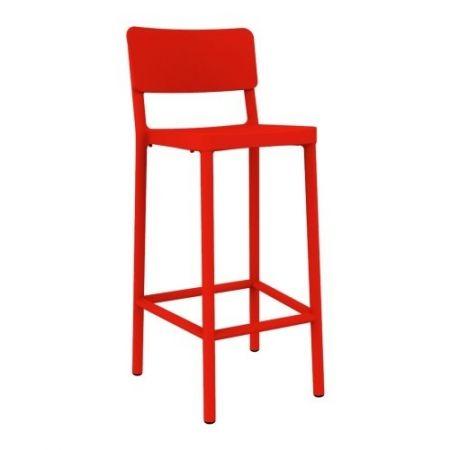 Meble :: Hokery :: Lisboa 75 stołek barowy czerwony