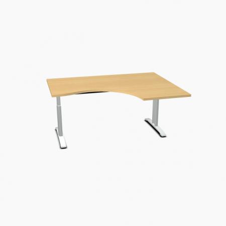 Meble :: Biurka :: Ergonomic Master biurko kształtowe z manualną regulacją wysokości 160 cm - BR11R