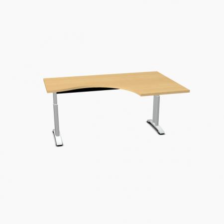 Meble :: Biurka :: Ergonomic Master biurko kształtowe z manualną regulacją wysokości 160 cm - BR67R